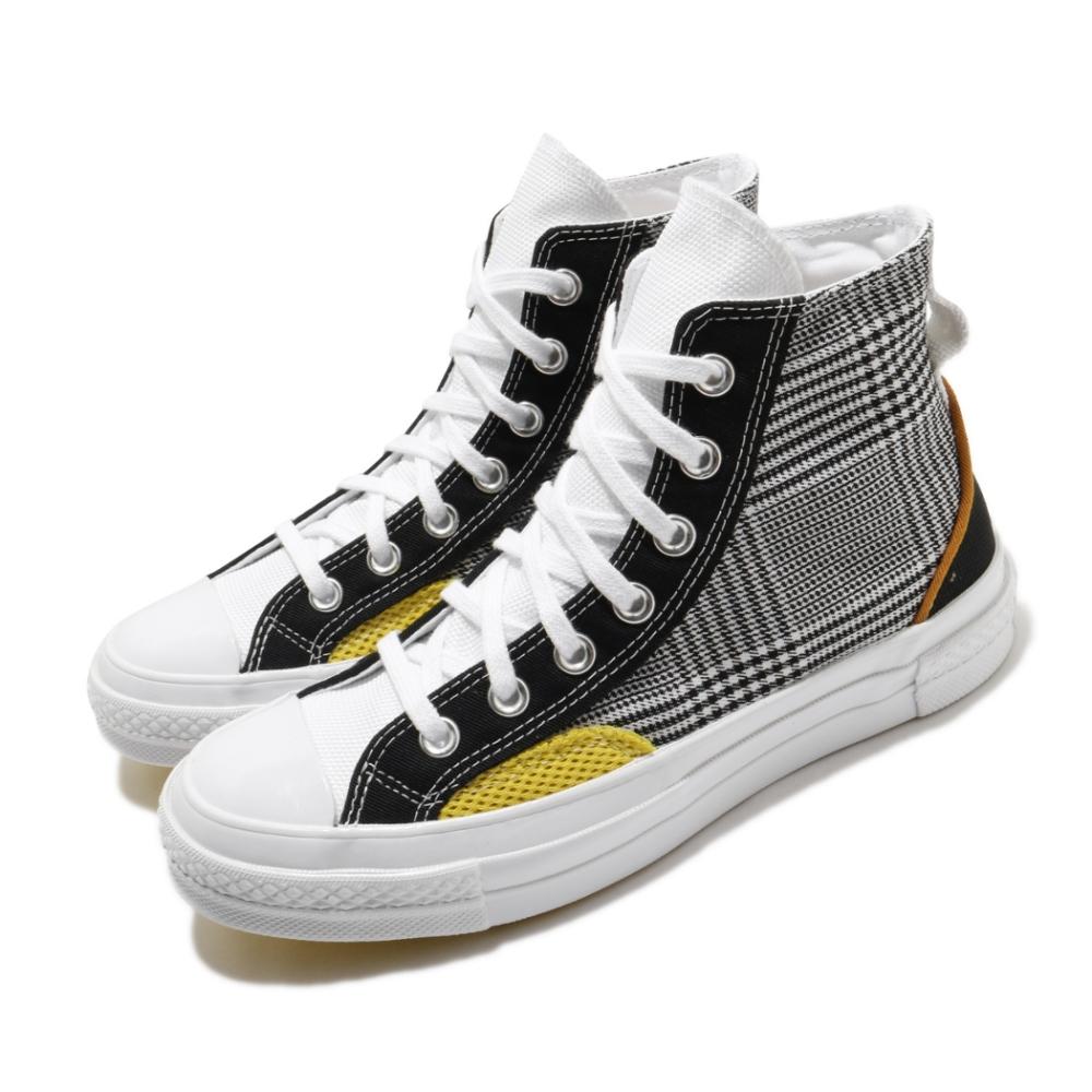 Converse 休閒鞋 All Star 高筒 穿搭 男女鞋 基本款 簡約 材質拼接 情侶款 黑 白 168696C