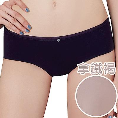 思薇爾 嗨Q Bra系列M-XL素面無痕低腰平口內褲(拿鐵褐)