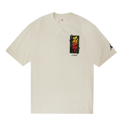 Nike T恤 Dri-FIT Zion Tee 運動休閒 男 Jordan 喬丹 飛人 圓領 塗鴉 卡其 綠 DH0593-234