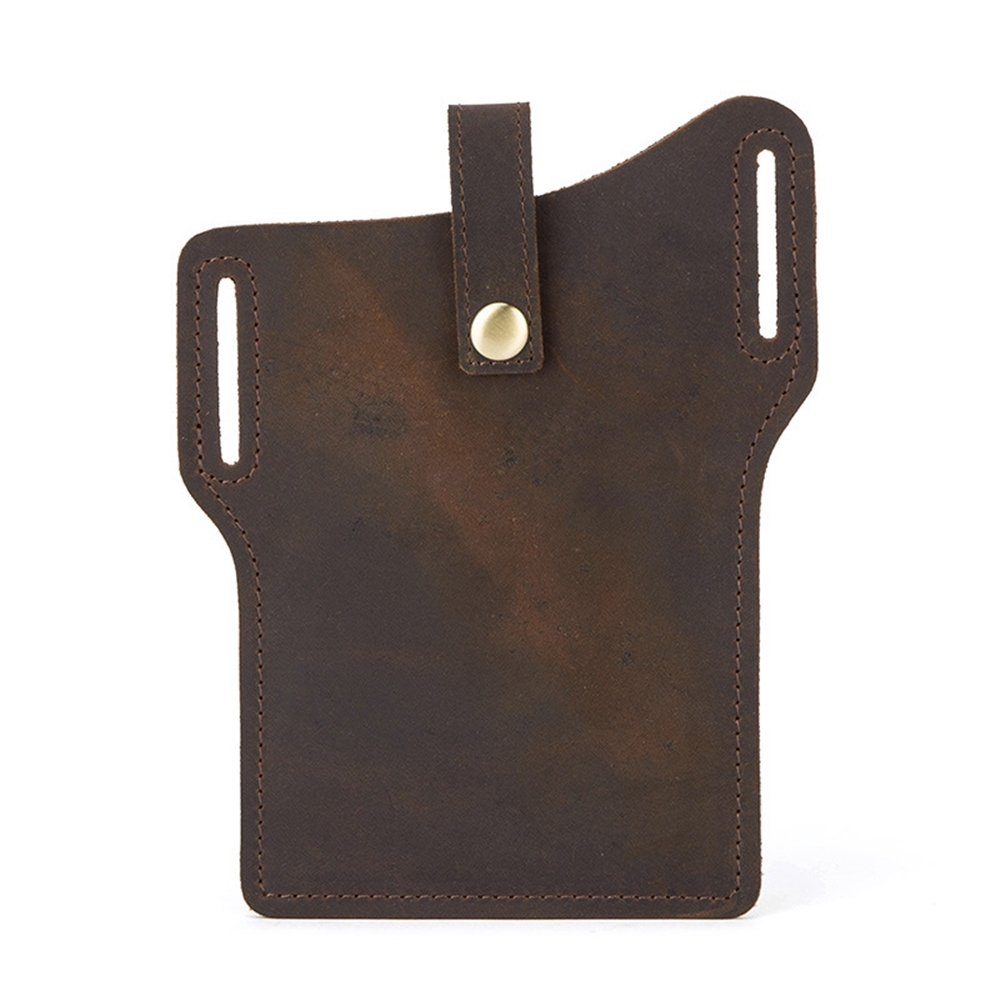 玩皮工坊-真皮頭層瘋馬牛皮男士手機包腰包男包-適用6.7吋以下LB740