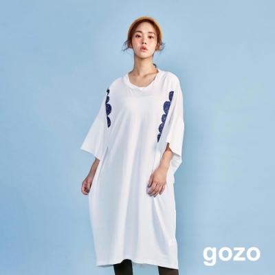 gozo 針織雪紡印花洋裝(二色)
