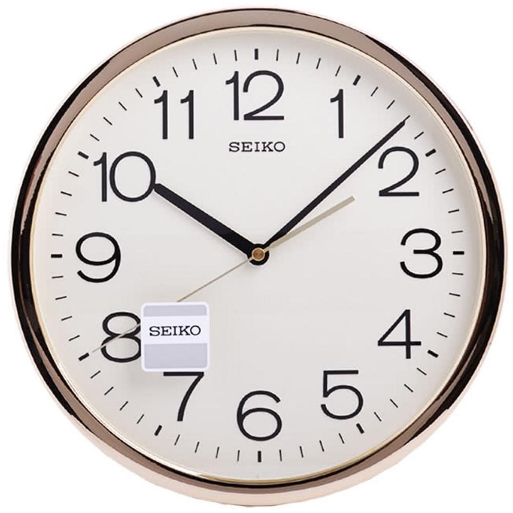 SEIKO精工 金色光感外框 時鐘 掛鐘(QXA020A)