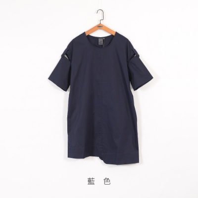 gozo 袖簍空不規則下擺洋裝(二色)