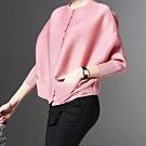 【韓國K.W.】超有型夏日氛圍寬鬆純色上衣-3色