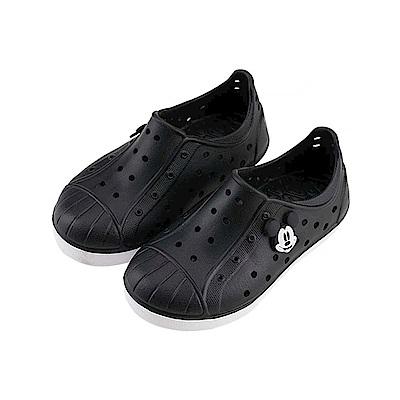 迪士尼 米奇 復古小手造型 防水休閒鞋-黑