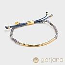 GORJANA Power Gem 靈性堇青石 金色平衡骨手鍊 沉穩內斂增加好人緣