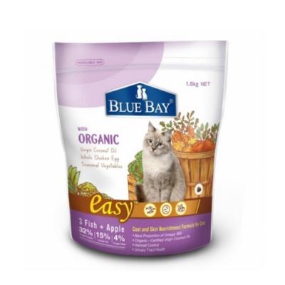 BLUE BAY EASY倍力-幼母貓亮毛護膚配方-三種魚+蘋果 1.5kg  兩包組