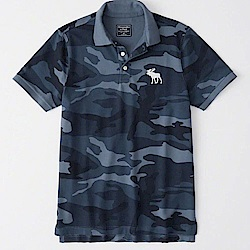 AF a&f Abercrombie & Fitch POLO 藍色 0978