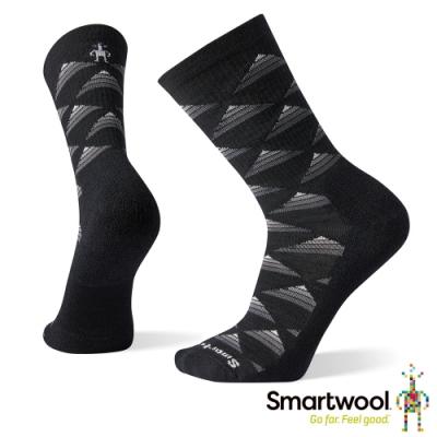 SmartWool 輕量菁英減震徒步印花中長襪-Burgee 黑色