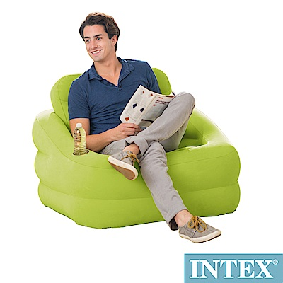 INTEX 歐式充氣沙發(可拆式靠背)-蘋果綠