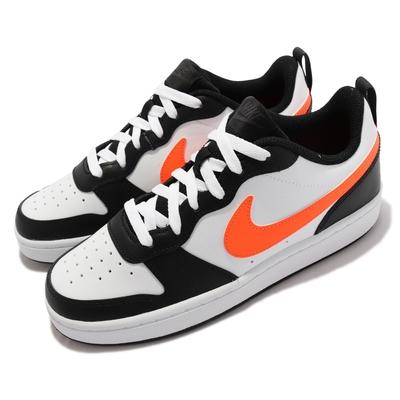 Nike 休閒鞋 Court Borough Low 2 女鞋 經典 舒適 皮革 球鞋 穿搭 大童 撞色 白 橘 BQ5448-115