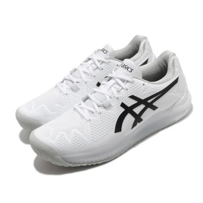 Asics 網球鞋 Gel-Resolution 8 運動 男鞋 亞瑟士 膠底 緩衝 耐磨 亞瑟膠 白 黑 1041A079101