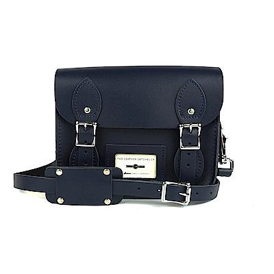 The Leather Satchel 英國手工牛皮劍橋包 肩背 後背包 湖泊藍 8.5吋