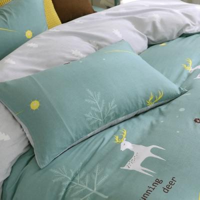 鴻宇 100%精梳棉 鹿跑了 單人床包枕套二件組