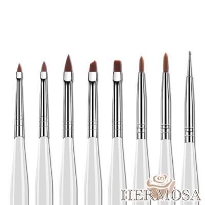HERMOSA 光療美甲彩繪雕花拉線點鑽筆 8入