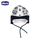 chicco-極地動物-海豹毛絨裡針織護耳帽