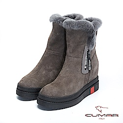 【CUMAR】率性柔美-毛圈厚實感內增高厚底雪靴