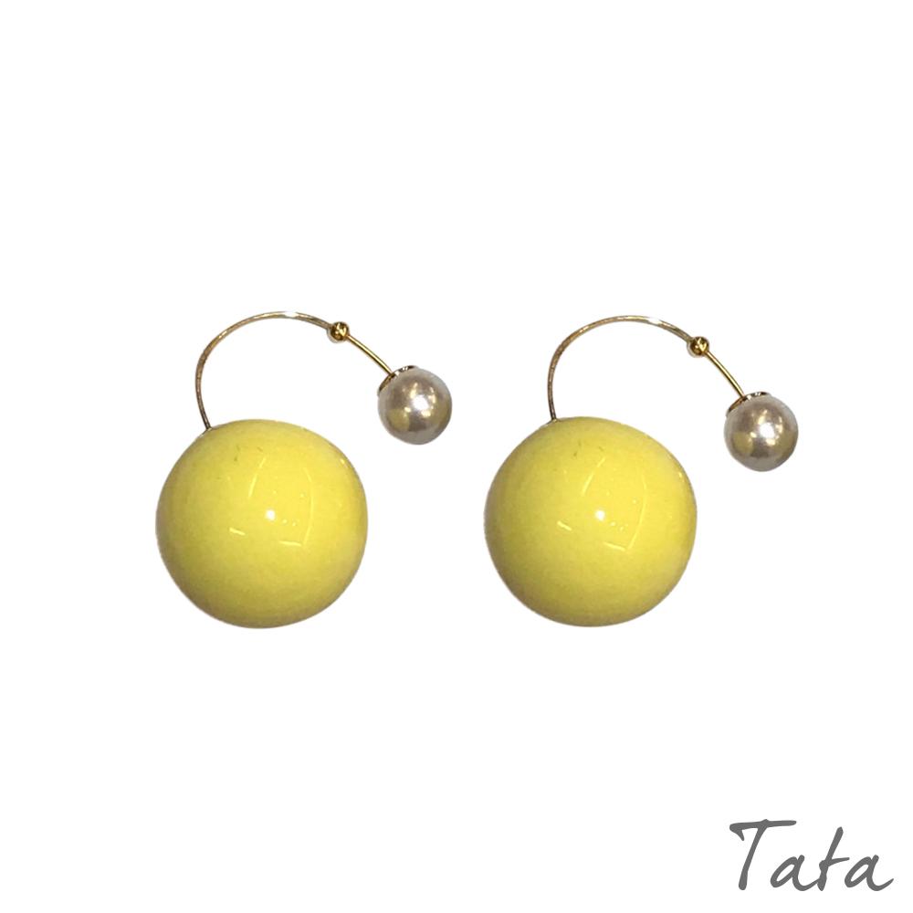 垂掛前後珠珠耳環 共四色 TATA