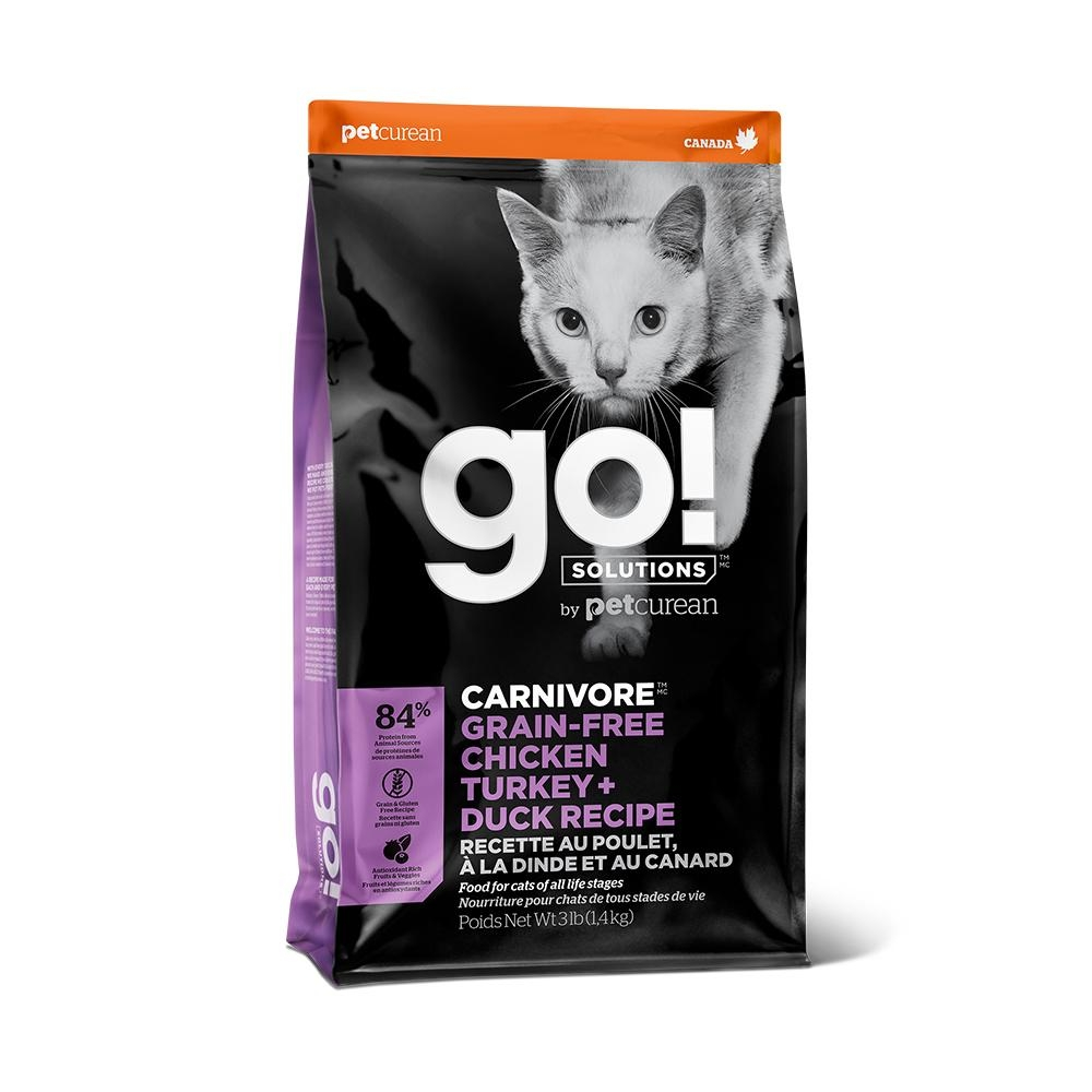 Go! 四種肉 84% 高肉量 3磅 全貓 無穀天然糧