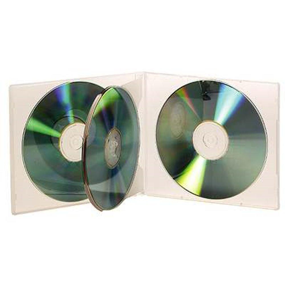 DigiStone 4片裝軟殼收納盒/白色透明 25片