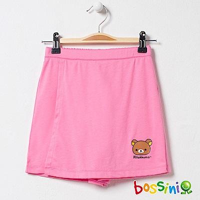 bossini女童-拉拉熊系列針織短褲嫩粉
