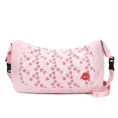 ELLE Active 法式櫻桃系列-肩背側背兩用包-粉紅色