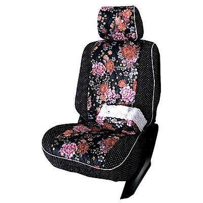 【葵花】量身訂做-汽車椅套-布料-花漾珍珠A-休旅車-9人座款1-3排