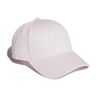 adidas 帽子 Trefoil Baseball Cap 愛迪達 三葉草 電繡 老帽 穿搭 帽微可調 粉白 FM1325