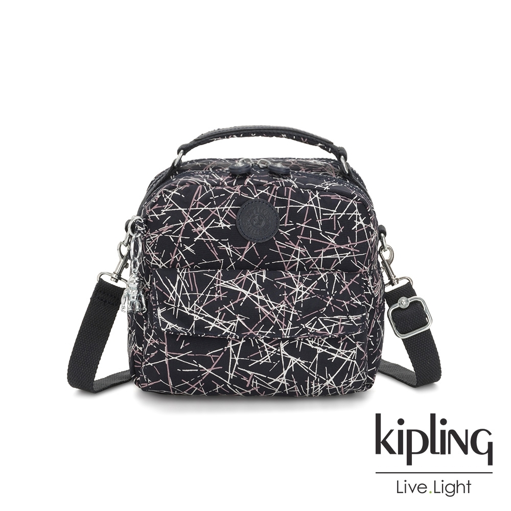 Kipling 英式粉白漆塗鴉兩用側背後背包-CANDY