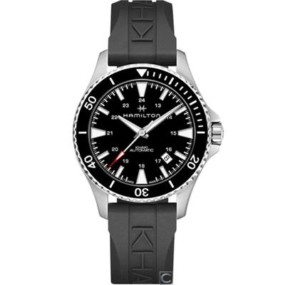 (無卡分期12期)Hamilton Khaki  碧海追蹤100米機械錶(H82335331)