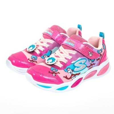 SKECHERS 女童系列 SHIMMER BEAMS 蘇斯博士聯名款 閃燈鞋 - 314988LPKMT
