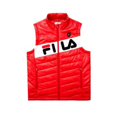 FILA 男鋪棉背心-紅色 1VET-5477-RD