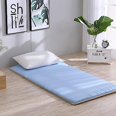 LAMINA 雙竹兩用透氣床墊-水玉點點-藍(單人)