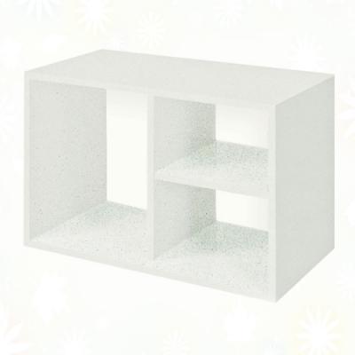 文創集 蘇菲亞 環保2尺南亞塑鋼開放式置物櫃/收納櫃-60x31x40cm免組