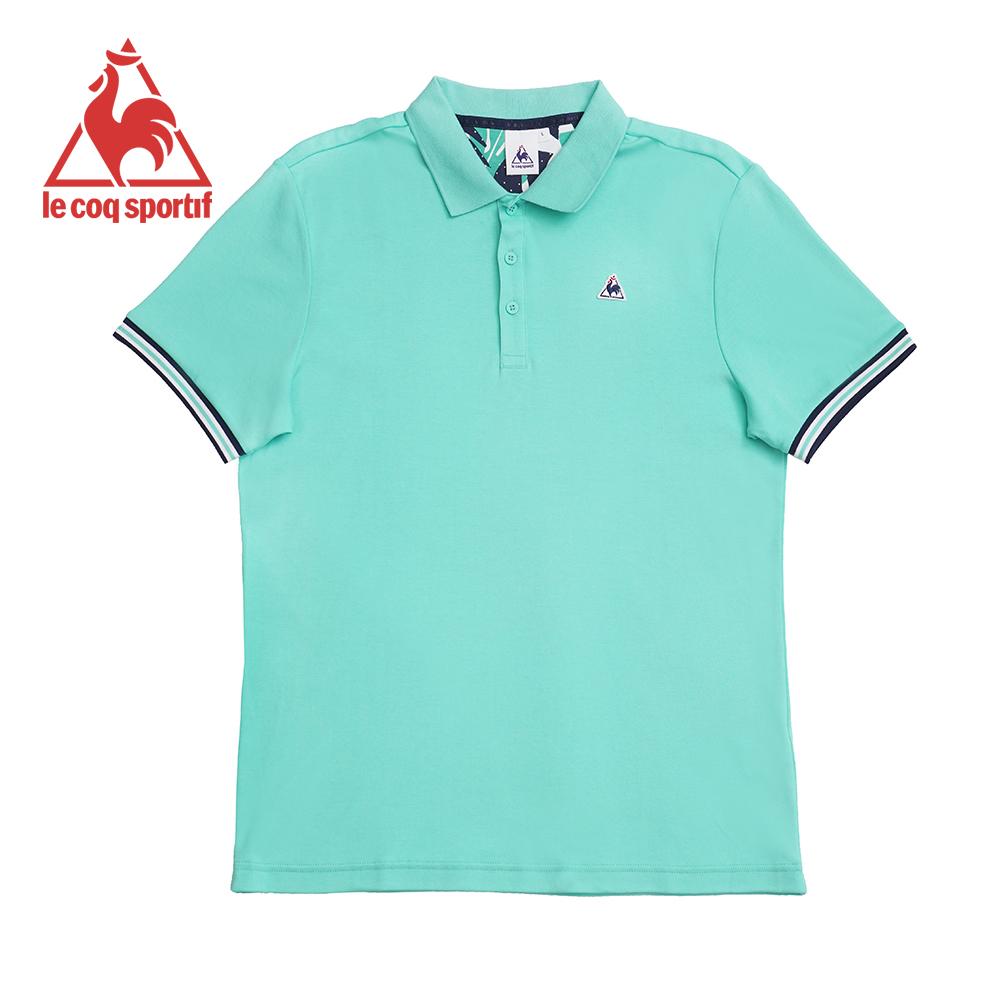 le coq sportif 法國公雞牌純瓷柔綿短袖POLO衫 男-淡綠
