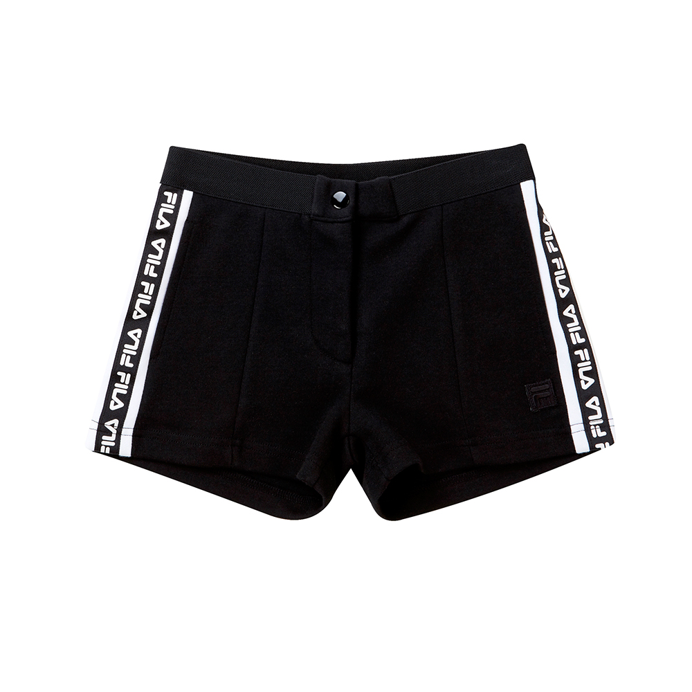 FILA KIDS #漢城企劃 童 針織短褲-黑 5SHT-4416-BK