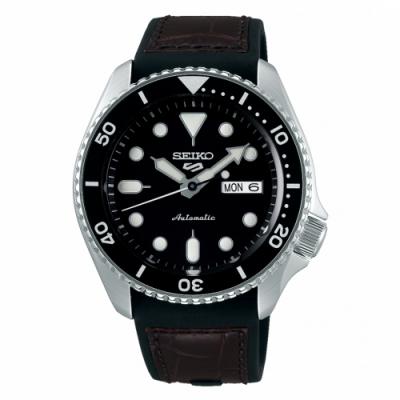 SEIKO 5sport運動潮流機械腕錶/咖啡皮帶4R36-07G0C(SRPD55K2)