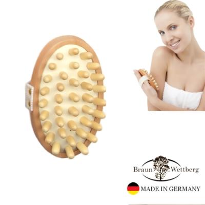 德國BRAUN WETTBURG 珀薇 德國製 木珠氣墊舒緩按摩刷  (一入)