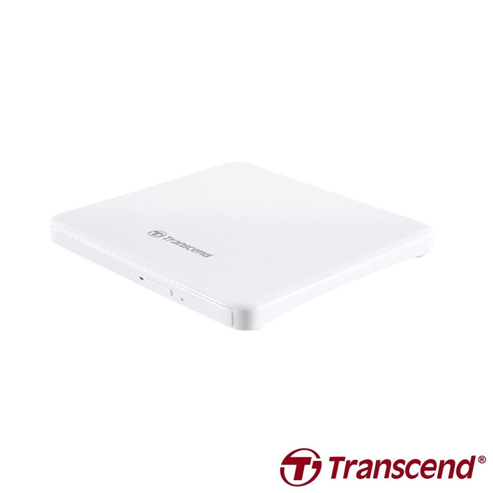 創見 TS8XDVDS 外接式超薄DVD燒錄機(白)