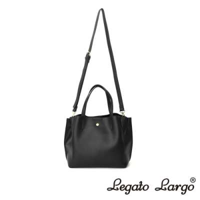 Legato Largo 驚異的輕量化 小法式輕便簡約 手提斜背兩用包 黑色