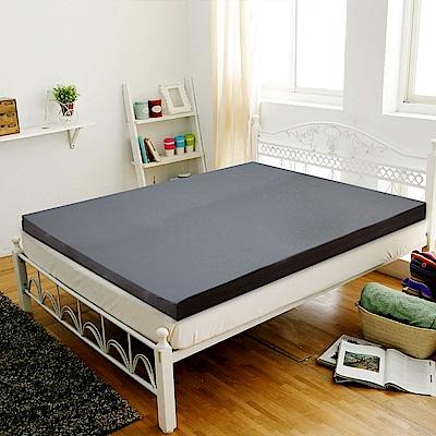 Gloria 竹炭平面記憶8公分床墊 雙人 五尺(灰)