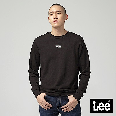 Lee X Marvel聯名長袖圓領厚TEE-黑
