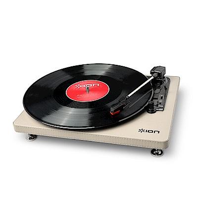 ION Audio Compact LP 摩登皮革黑膠唱機 - 奶油白