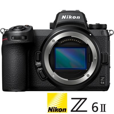 ★贈雙好禮★ NIKON Z6 II / Z62 BODY 單機身 (公司貨) 全片幅微單眼相機 五軸防手震 4K錄影 WIFI傳輸 直播