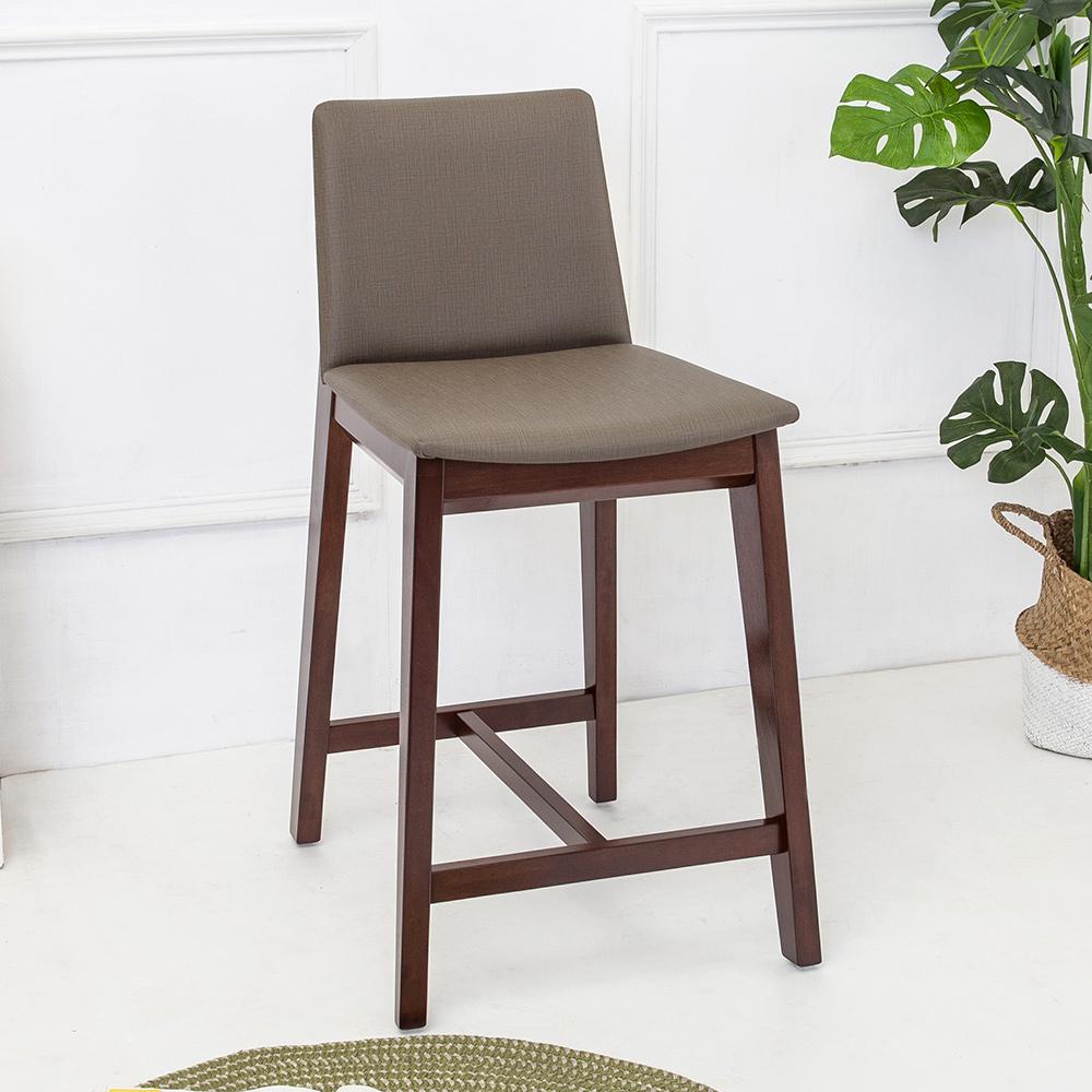 Bernice-森瓦實木吧台椅/吧檯椅/高腳椅(矮)-46x54x85cm