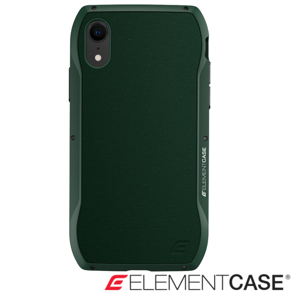 美國 Element Case iPhone XR Enigma 旗艦真皮防摔殼 - 綠 @ Y!購物