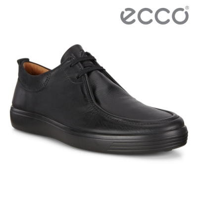 ECCO SOFT 7 M 經典復古輕盈休閒鞋 男鞋 黑色