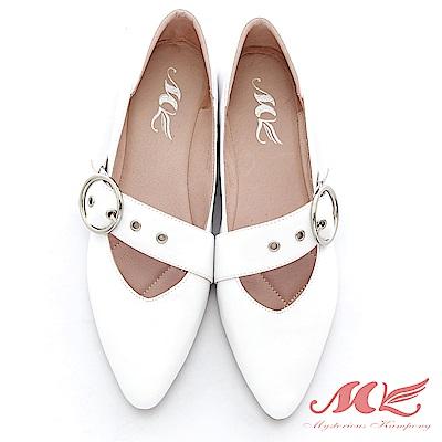 MK 英倫風金屬飾品單鞋 2色