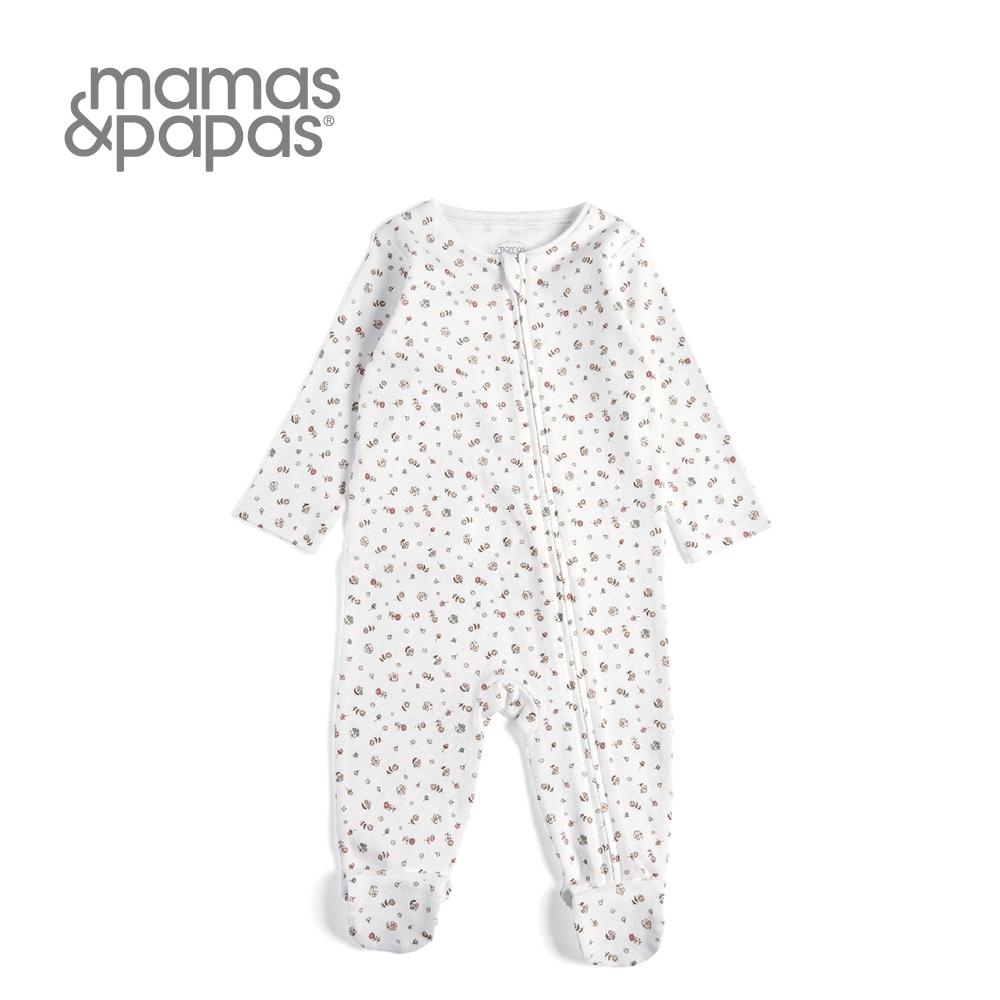 Mamas & Papas 小花棒棒糖-斜襟連身衣