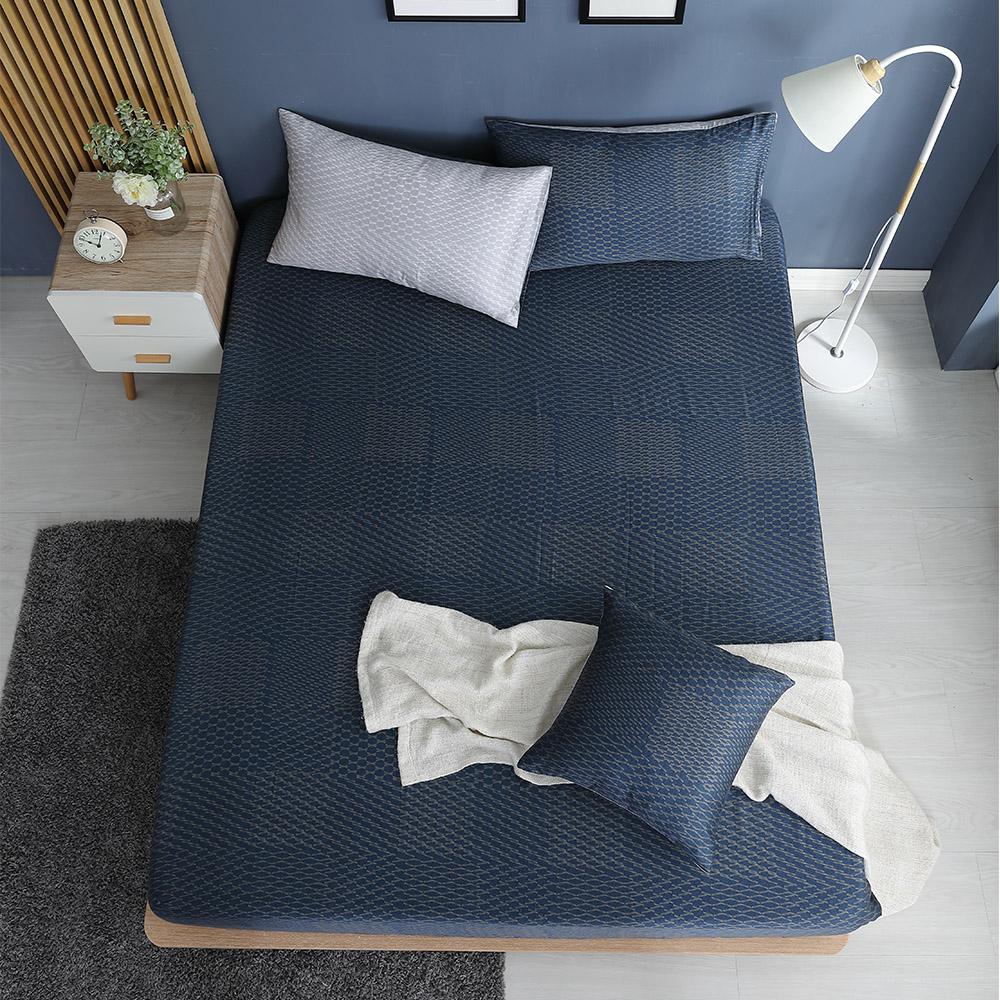 LASOL睡眠屋-100%奧地利天絲 雙人床包枕套三件組230織 紳士的品格